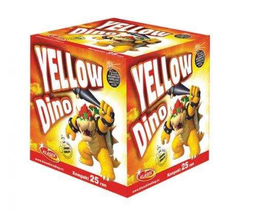 Tűzijáték telep - 20 mm a DinamitShoptól: Yellow Dino
